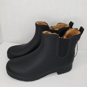 Chooka Delridge Chelsea Black Rubber Ankle Boots